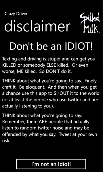 Don't be an IDIOT!